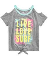 Epic Threads Big Girls Graphic-Print Cold Shoulder T-Shirt, Created for Macy's
