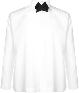 Issey Miyake Homme Plissé contrast collar shirt
