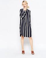 Selected Nanina Striped Oversized Shirt