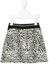 Roberto Cavalli leopard print mini skirt - kids - Cotton/Spandex/Elastane - 3 yrs