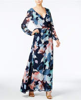 Bar III Printed Wrap Maxi Dress, Only at Macy's