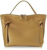 Jil Sander Dark Yellow Small Leather Hill Satchel Bag