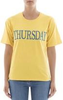 Alberta Ferretti Women's Yellow Cotton T-shirt.