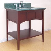 Buckingham 300 Console Bathroom Vanity Base Only Empire Industries Base Finish: Dark Cherry, Size: 30""