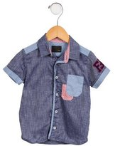 Fendi Boys' Zucchino-Accented Shirt