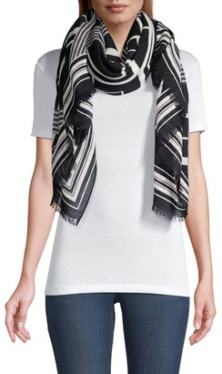 Rag & Bone Geometric-Print Wool Scarf