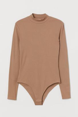 H&M Ribbed Bodysuit - Beige