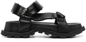 Jil Sander Chunky Leather Platform Sandals