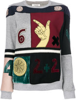 Valentino Counting embroidered sweatshirt