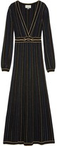 Gucci Glitter Lame Striped Dress