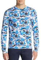 Versace Printed Cotton Jersey Pullover