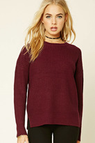 Forever 21 FOREVER 21+ Ribbed Dropped-Sleeve Sweater