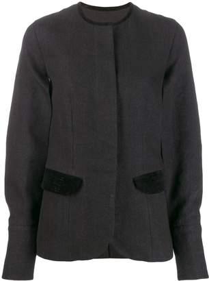 UMA WANG striped panelled jacket