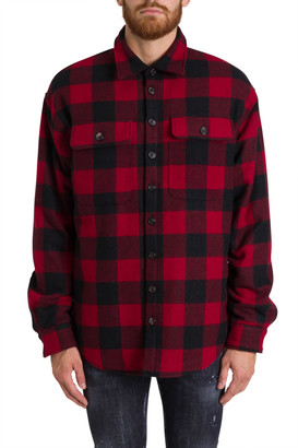 DSQUARED2 Check Flannel Shirt With Contrasting Logo On Back