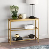 """Southall 36"""" Console Table Mercer41 Color: Gold"""