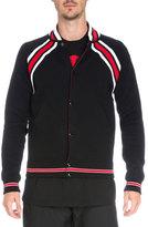 Givenchy Striped Cotton Varsity Jacket, Black/Red
