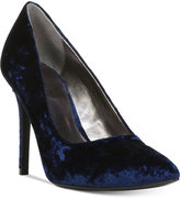 Carlos by Carlos Santana Posy Pointed-Toe Velvet Pumps Women's Shoes
