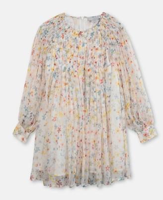 Stella Mccartney Kids Splash Flowers Silk Dress, Women's