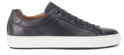 HUGO BOSS Italian-crafted trainers in burnished leather