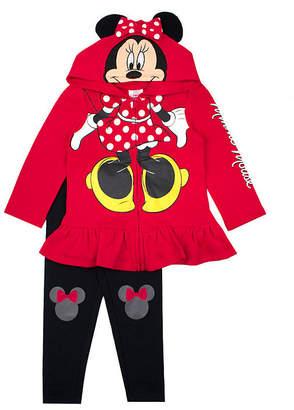 DISNEY MINNIE MOUSE Disney Girls 2-pc. Minnie Mouse Legging Set-Toddler