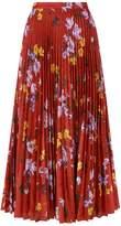 Erdem Floral Pleated Skirt