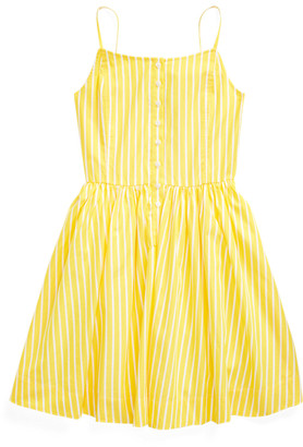 Ralph Lauren Striped Cotton Poplin Dress