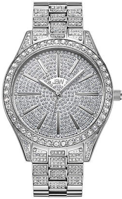 JBW Cristal 1/8 Ct. T.W. Genuine Diamond Womens Silver Tone Stainless Steel Bracelet Watch-J6346c