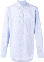 Canali plain shirt - men - Linen/Flax - S