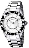 Lotus Women's Quartz Watch with White Dial Analogue Display and Silver Stainless Steel Bracelet 15891/1