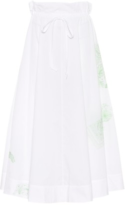 Acne Studios Hellah Pop embroidered cotton skirt