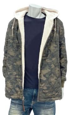 Sean John Men's Big & Tall Reversible Sherpa Lined Hooded Jacket