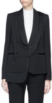Stella McCartney 'Floraine' fringe tuxedo wool jacket