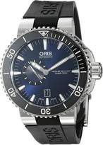 Oris Men's 'Aquis' Swiss Automatic Stainless Steel and Rubber Watch, Black (Model: 74376734135RS)