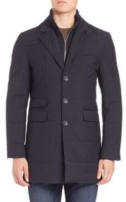 Saks Fifth Avenue Zipper Bib Quilted Wool Coat