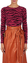 Marc Jacobs Women's Zebra-Pattern Cashmere Sweater-Pink