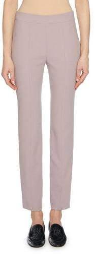 Giorgio Armani Straight-Leg Wool Crepe Crop Pants with Back Zip