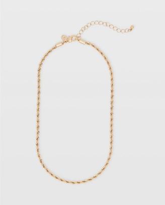 Club Monaco Short Twist Chain Necklace