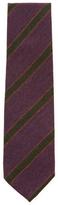 DeSanto Men's Ribbed & Striped Wool Tie