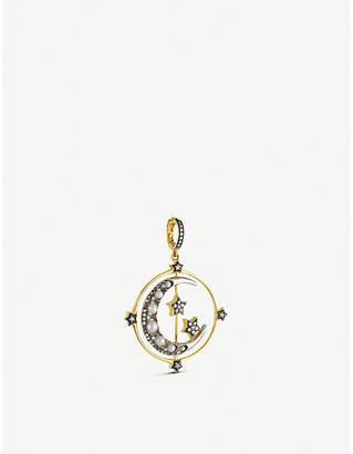 Annoushka Mythology 18ct yellow and white-gold and gemstones Spinning Moon pendant