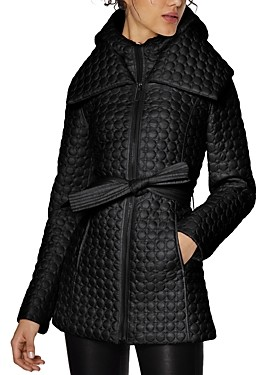 Dawn Levy Morgan Belted Quilted Coat