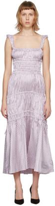Brock Collection Purple Silk Prisca Vichy Tank Dress