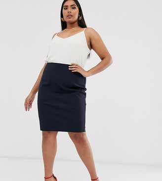 ASOS DESIGN Curve high waisted pencil skirt