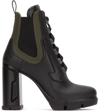 Prada Lace-Up Chelsea Boots