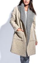 Beige & Gray Wool-Blend Fabiola Coat