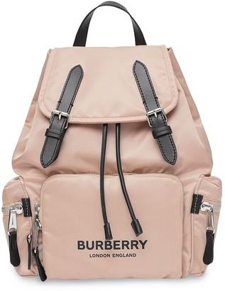 Burberry The Medium Rucksack in Logo Print ECONYL®