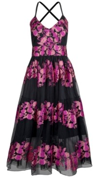 Christian Siriano New York Embroidered-Floral Dress