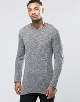 Diesel K-Extorum Longline Sweater Loose Marl Knit