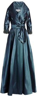 Catherine Regehr Silk Taffeta Classic Shawl Gown