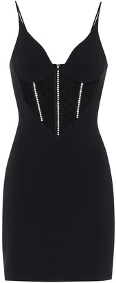 David Koma Embellished stretch-crepe dress