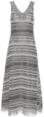 Loewe Striped cotton-blend knit dress